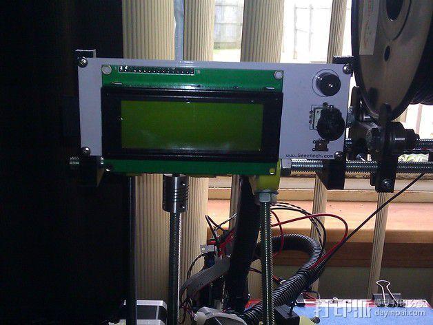 LCD显示屏支架 3D模型  图3