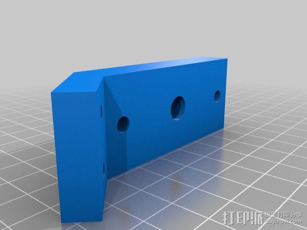 Gregs Wade挤出机支架 3D模型  图2