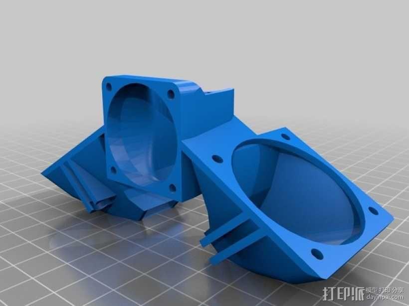 E3D 喷头风扇 3D模型  图1