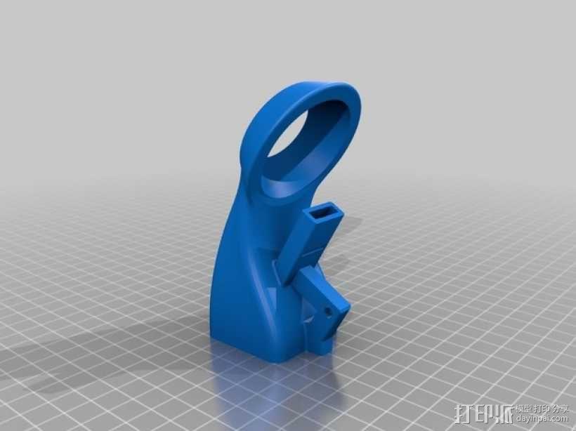 40毫米的风扇通风导管 3D模型  图1