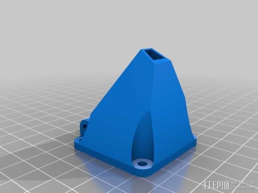Prusa i3打印机的风扇通风导管 3D模型  图2