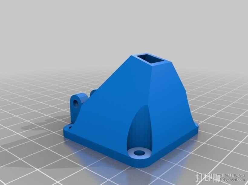 Prusa i3打印机的风扇通风导管 3D模型  图3