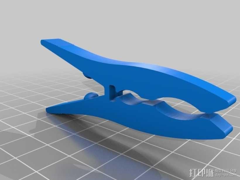 晾衣夹 晾晒夹  夹子 3D模型  图1