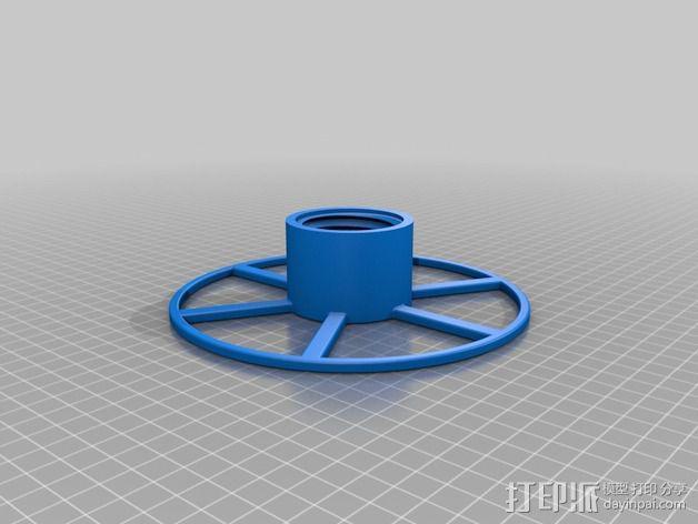 16厘米的线轴 3D模型  图2