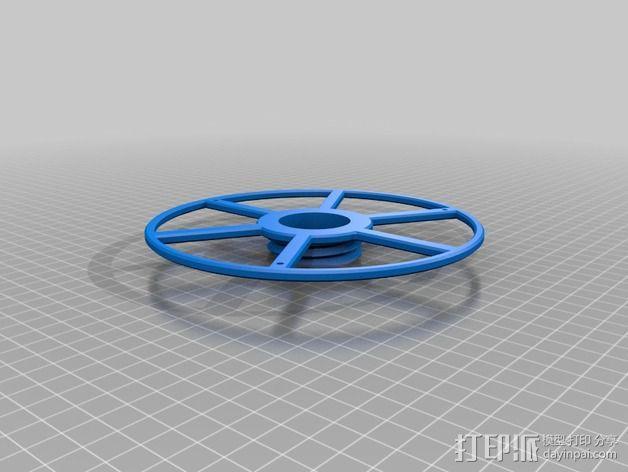 16厘米的线轴 3D模型  图3