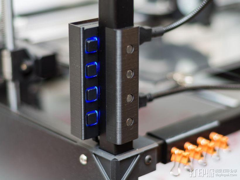 USB集线器支架 3D模型  图1