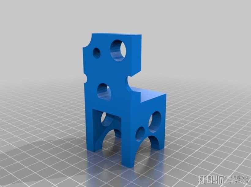 瑞士奶酪椅子 3D模型  图2