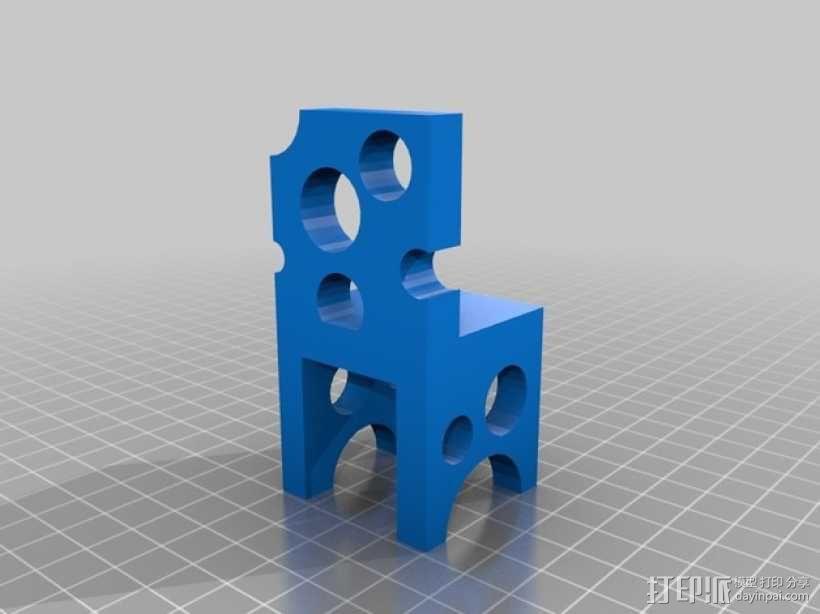 瑞士奶酪椅子 3D模型  图3