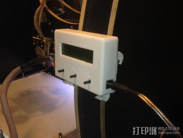 电路板显示屏保护罩 3D模型  图8