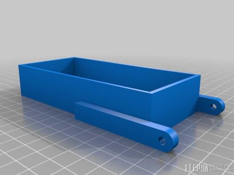 电源固定框 3D模型  图2