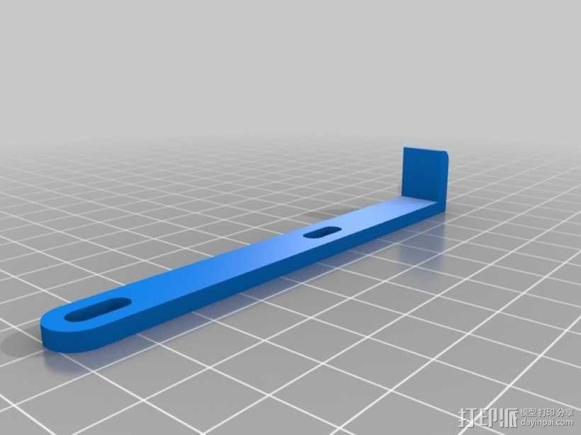 电源固定框 3D模型  图3