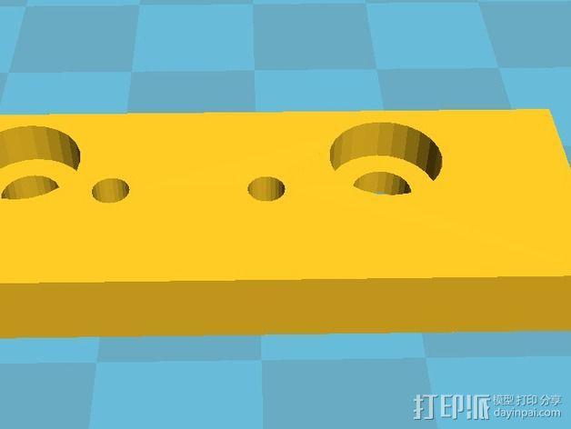 RepRap 打印机的限位开关调谐器 3D模型  图4
