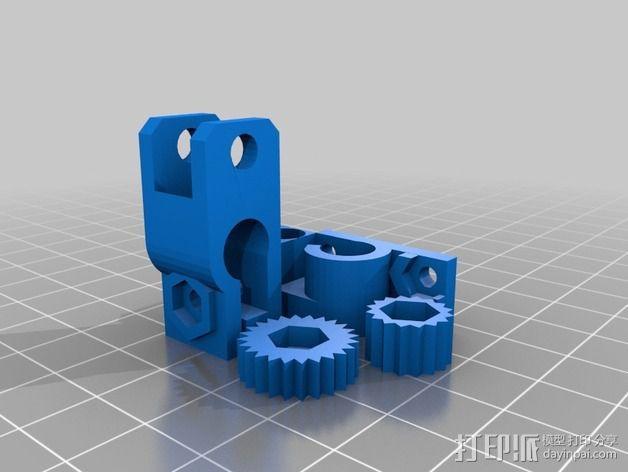 RepRap 打印机的限位开关调谐器 3D模型  图5