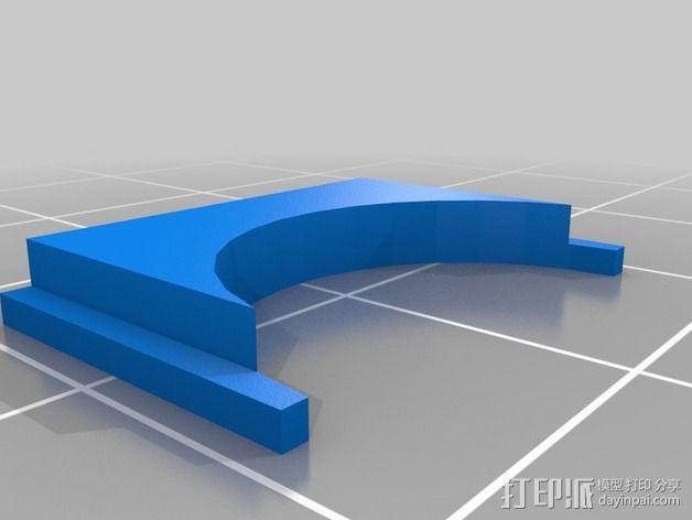 自动调平器马达支架 3D模型  图1