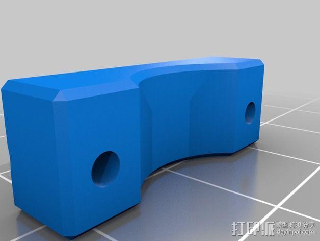 自动调平器马达支架 3D模型  图2
