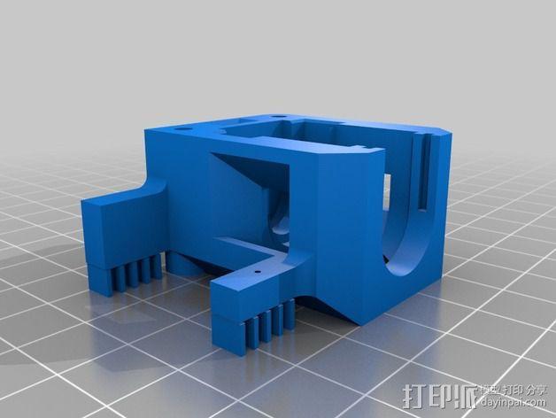 自动调平器马达支架 3D模型  图3