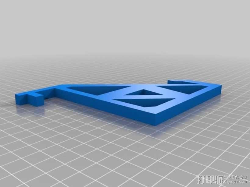 RigidBot打印机上的平板电脑支架 3D模型  图2