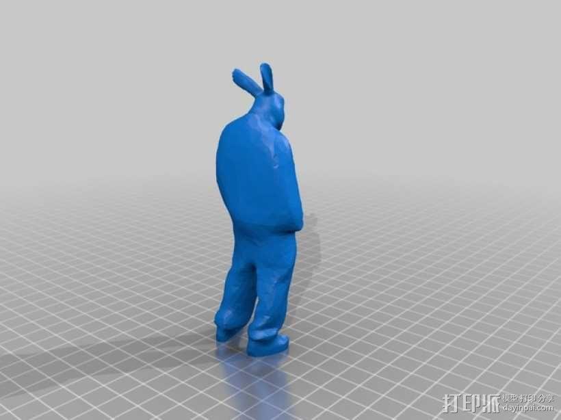 兔人 雕塑 3D模型  图2