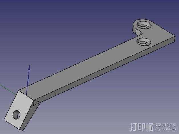 风扇支撑架 3D模型  图5