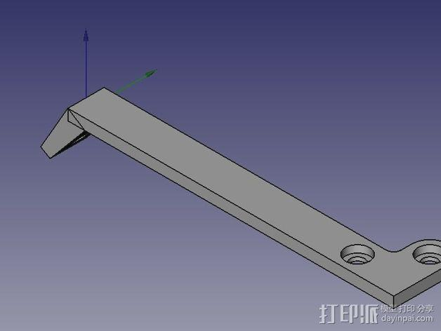 风扇支撑架 3D模型  图4