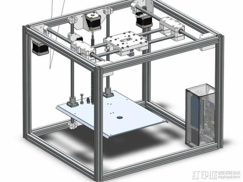 ramps和 RaspberryPi树莓派电路板的外罩 3D模型  图1