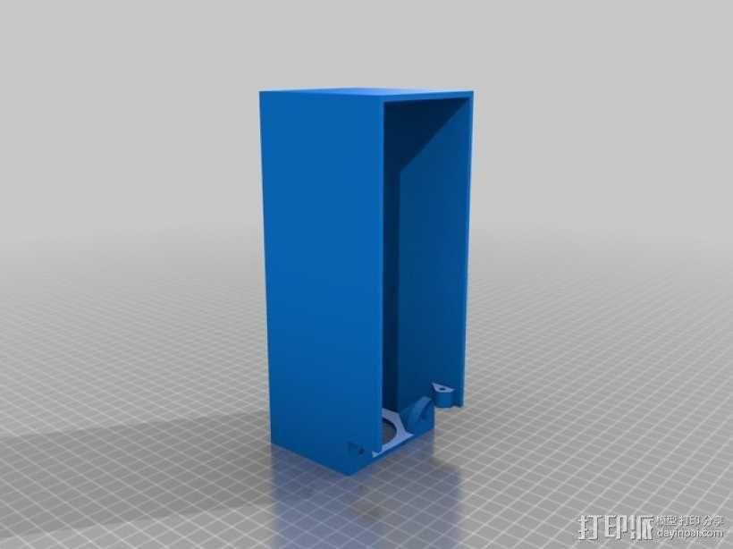 ramps和 RaspberryPi树莓派电路板的外罩 3D模型  图2