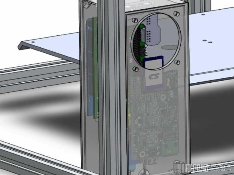 ramps和 RaspberryPi树莓派电路板的外罩 3D模型  图3