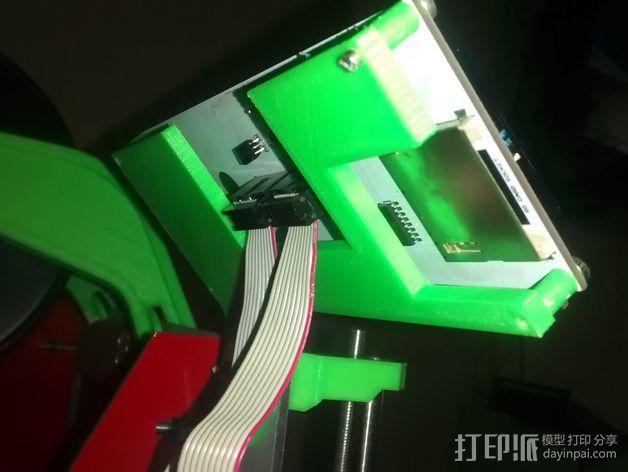 LCD液晶显示屏的支架 3D模型  图1