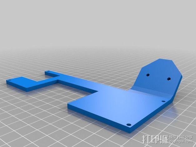 LCD液晶显示屏的支架 3D模型  图2