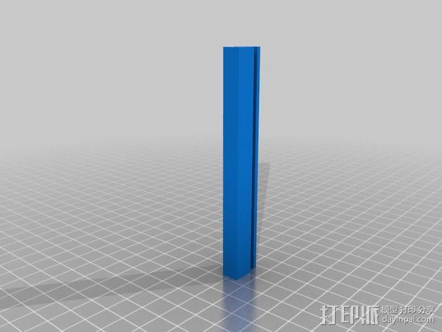 Zortrax M200打印机的玻璃板固定器 3D模型  图2