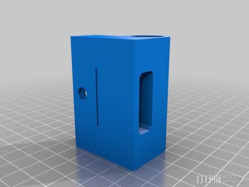 Prusa i3 X轴的轴承部件 3D模型  图1