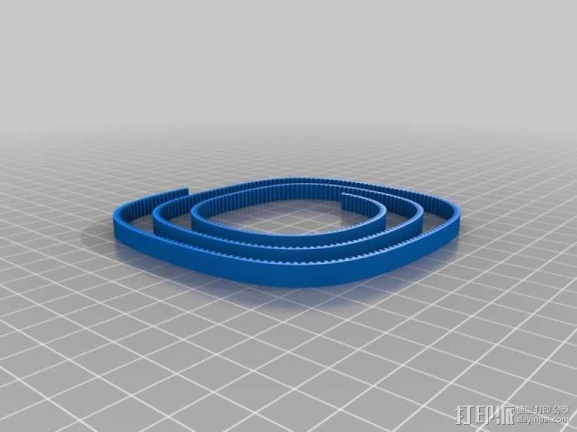 正时皮带 3D模型  图1
