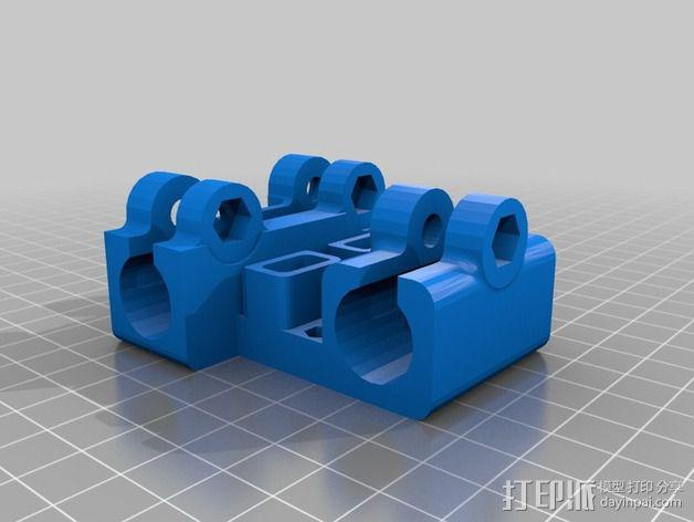 reprap prusa i3打印机X轴的部件 3D模型  图2