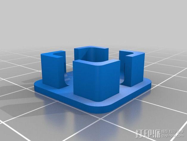 RigidBot打印机的轴杆盖帽 3D模型  图1
