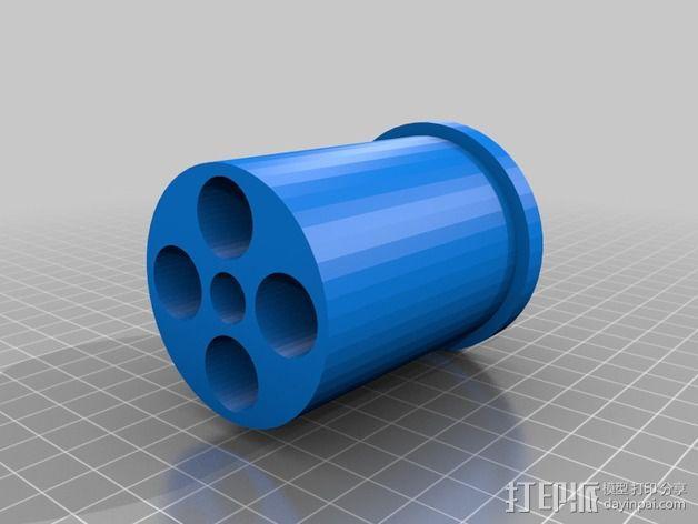 Rigidbot 打印机的线轴适配器 3D模型  图1