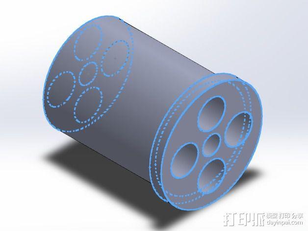 Rigidbot 打印机的线轴适配器 3D模型  图2