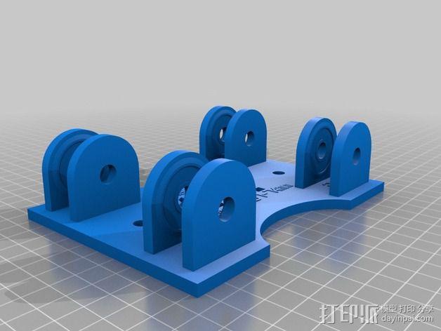 参数化的线轴支架 3D模型  图4