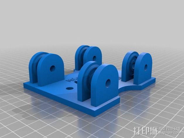 参数化的线轴支架 3D模型  图2
