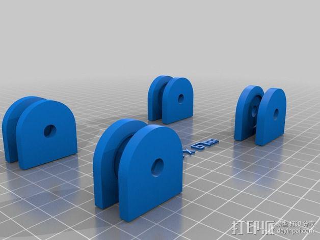 参数化的线轴支架 3D模型  图5