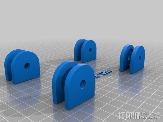 参数化的线轴支架 3D模型  图6