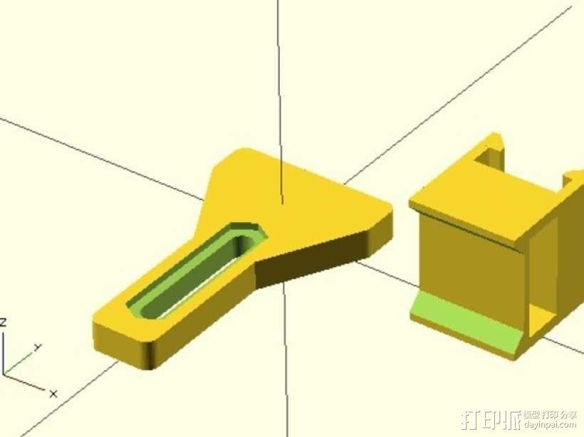 Y轴限位开关支架 3D模型  图1