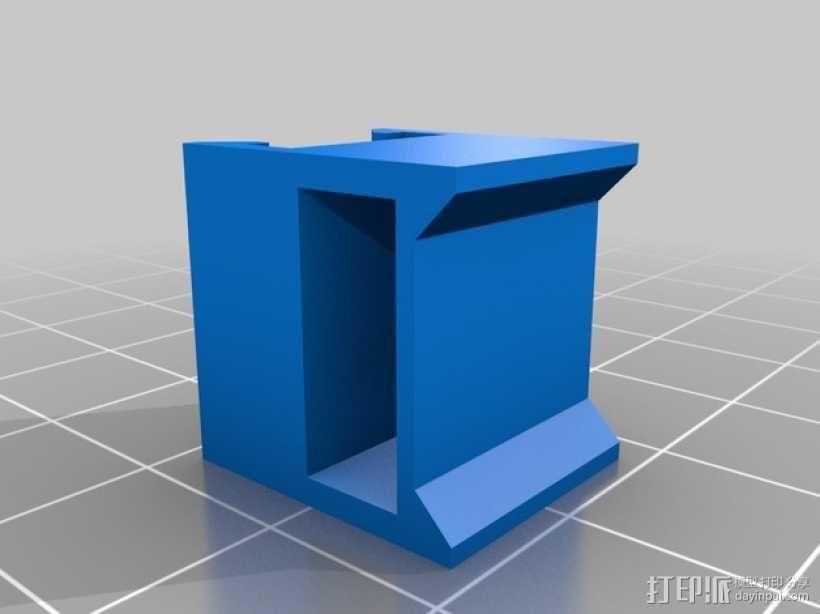 Y轴限位开关支架 3D模型  图2
