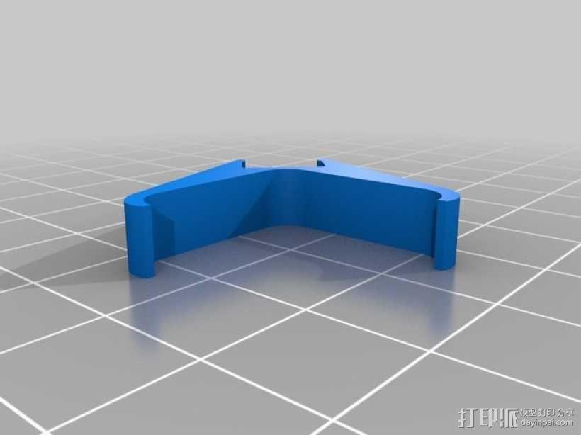 发光二极管固定夹 3D模型  图4