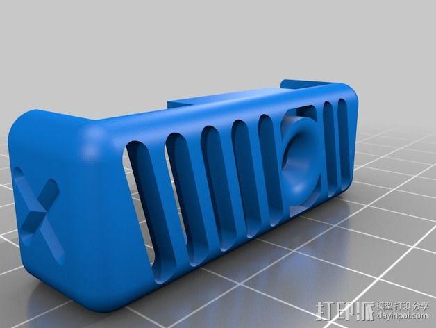 QU-BD Two Up / One Up打印机的线材导线器 3D模型  图2