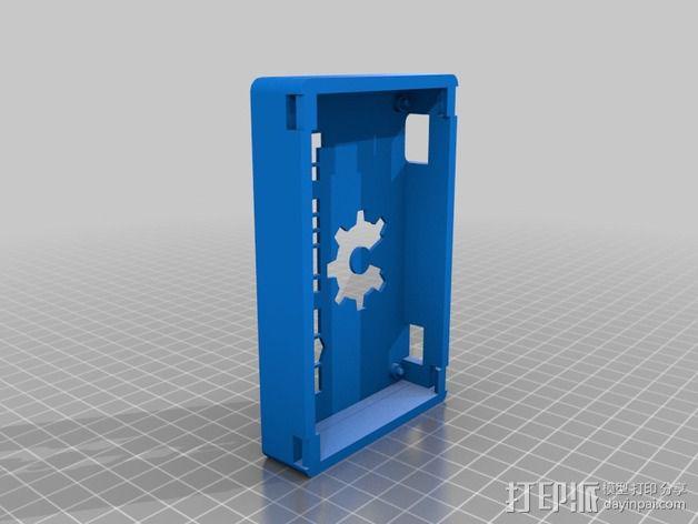 Printrbot Simple 打印机的电路板外罩 3D模型  图1