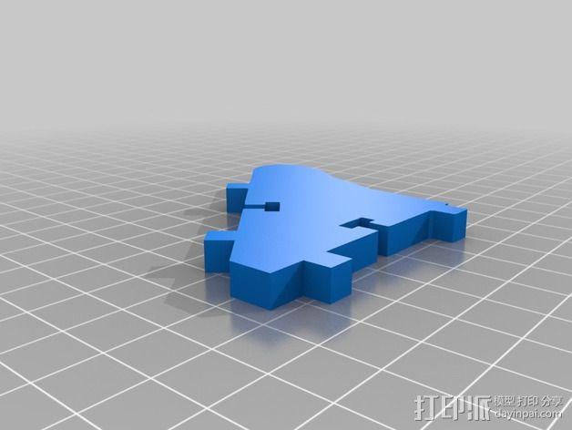 显示屏外框 保护器 3D模型  图3