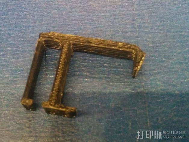 电缆夹 3D模型  图1