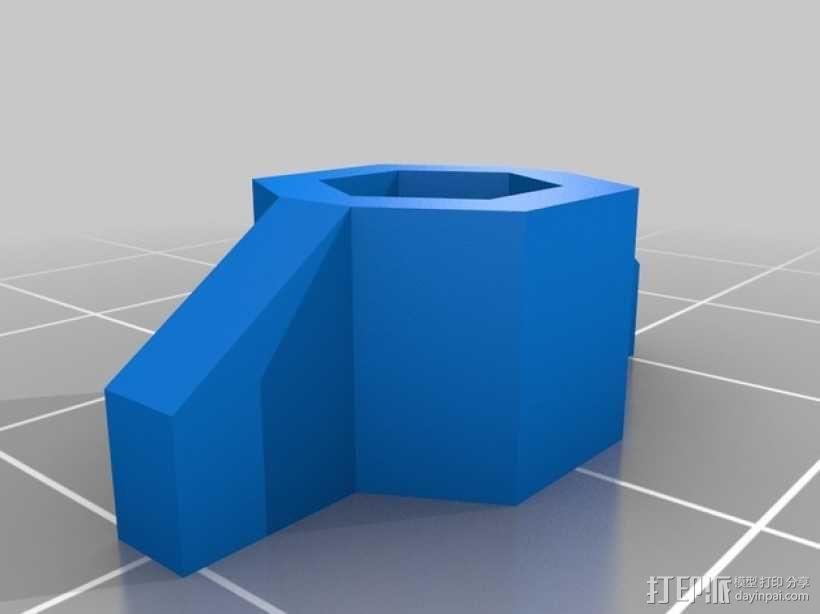 预埋螺母管 3D模型  图1