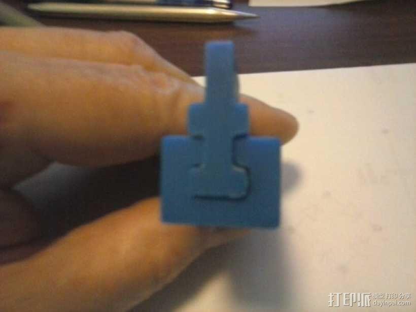 导梁和滑块 3D模型  图1