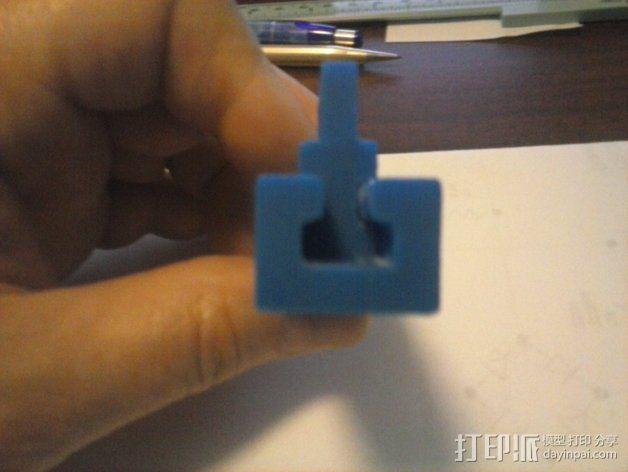 导梁和滑块 3D模型  图7